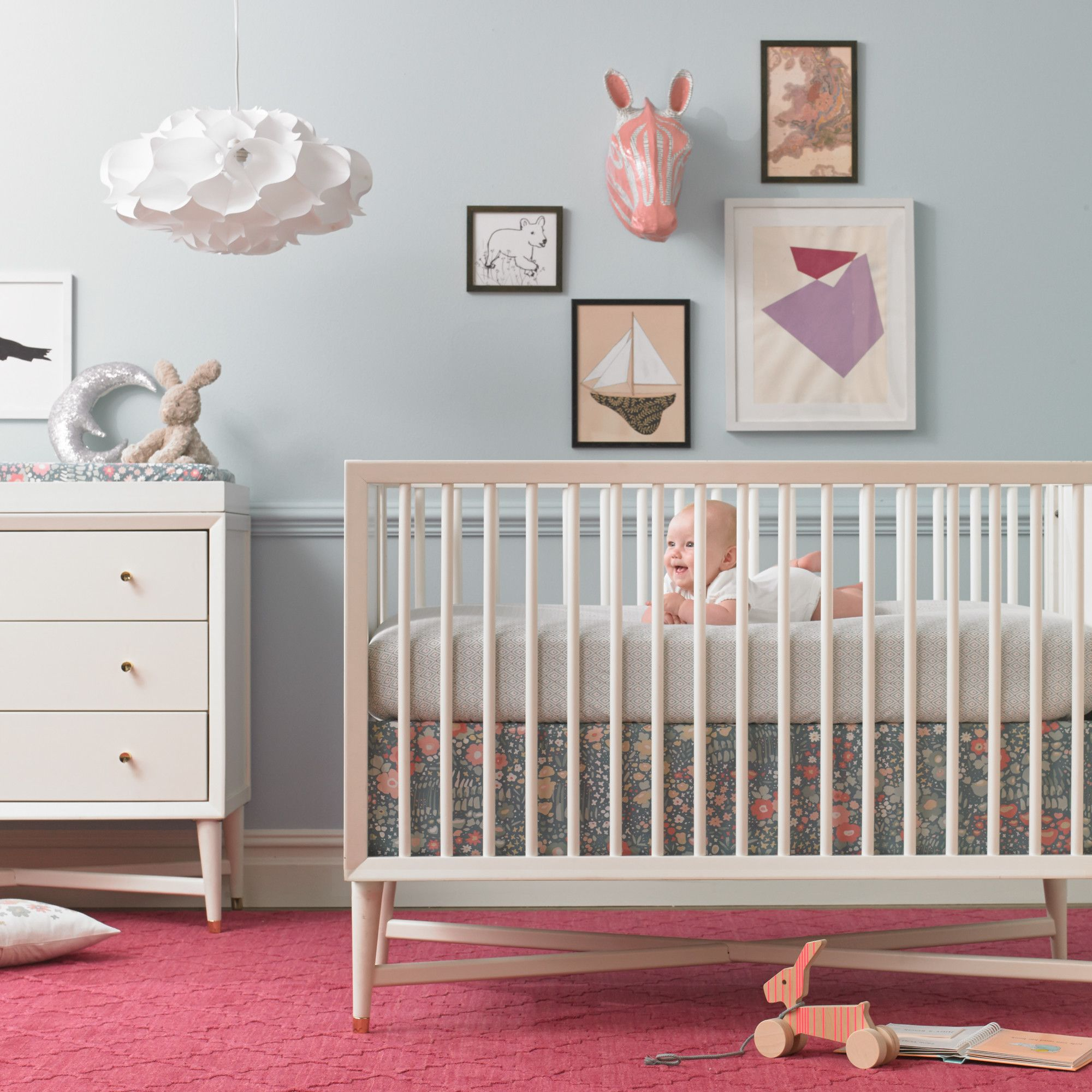 dwellstudio midcentury french white crib  dwellstudio  kids  - dwellstudio midcentury french white crib  dwellstudio