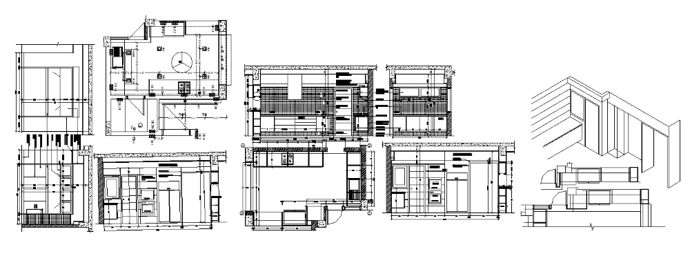 kitchen electrical design small kitchen layout in dwg file cadbull in 2020 small kitchen  small kitchen layout in dwg file