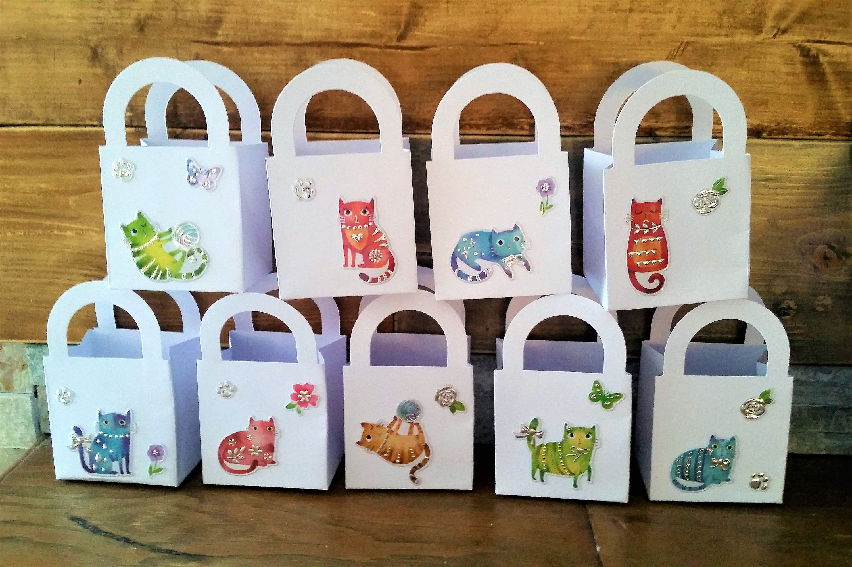 24 catkitten party favour boxes gift boxes birthday