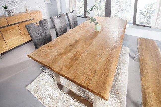 Massiver Baumstamm Tisch Genesis 180 Cm Eiche Massivholz Baumkante
