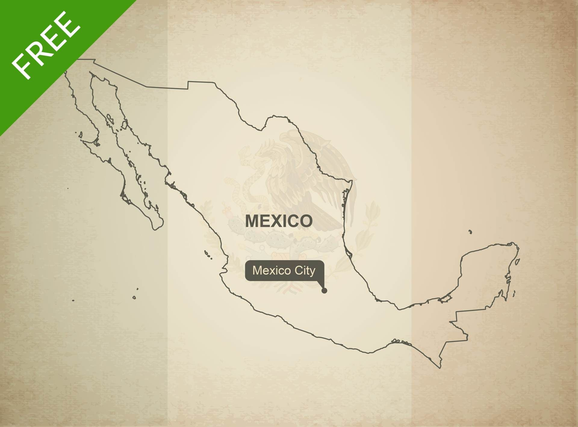 Free Vector Map Of Mexico Outline Vector Format - Georgia map vector free download