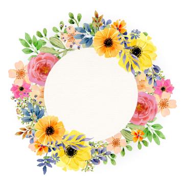 Watercolor Vintage Floral Watercolor Vintage Floral Floral Spring Floral Spring Frame Wate Floral Watercolor Floral Border Design Watercolor Flower Background
