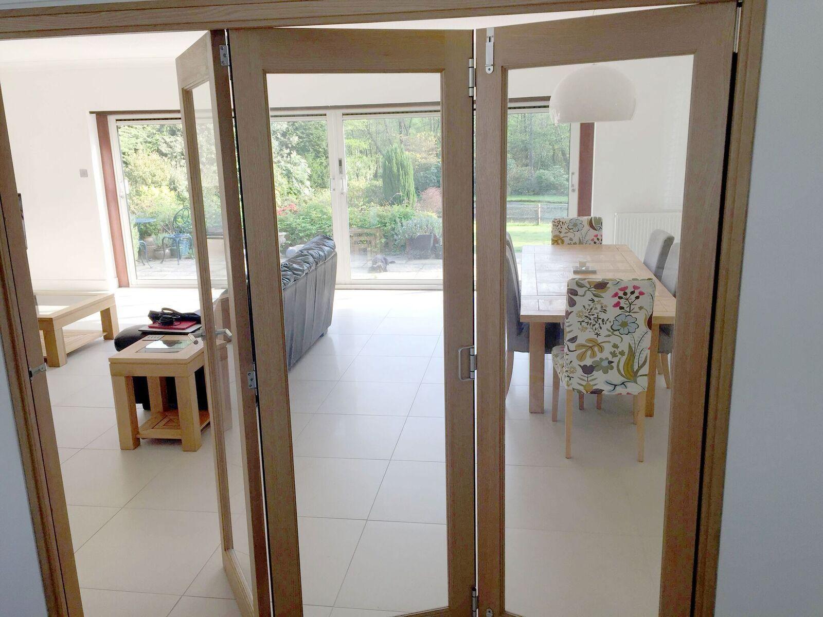 Partially Open 2 1m Finesse Internal Bifold Door Bifold Doors