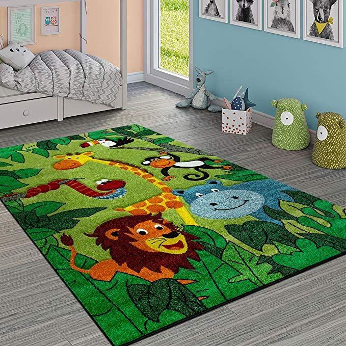 Paco Home Kinderteppich Kinderzimmer Dschungel Tiere