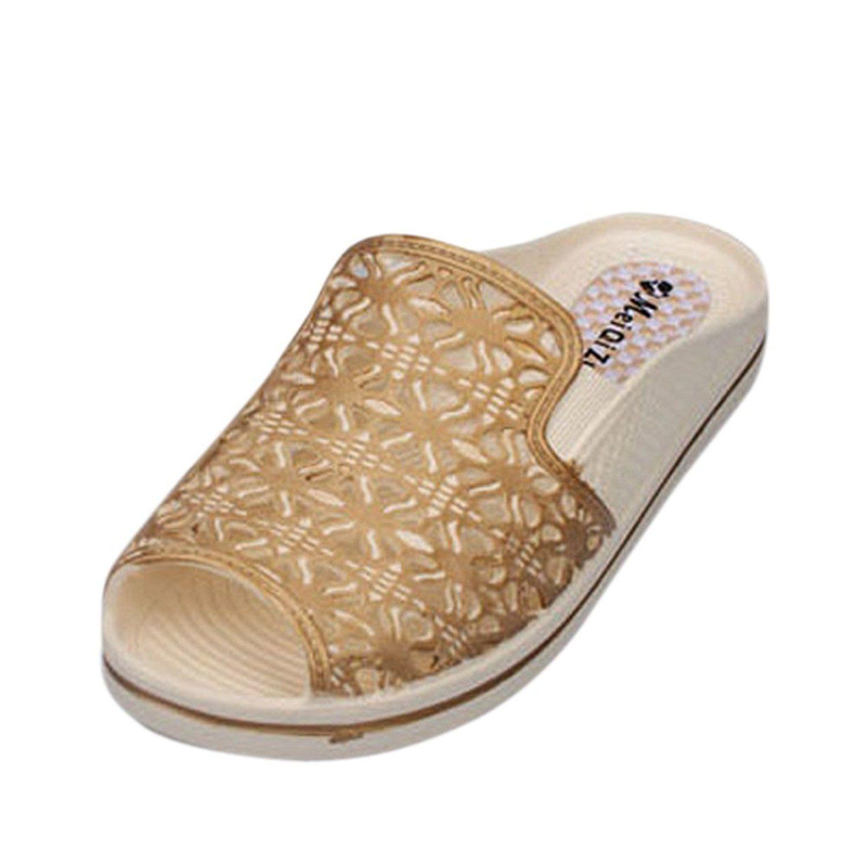 f775a9c2a10f Jiyaru Women s Summer Peep-Toe Hollows Beach Sandals Slipers   Review more  details here   Women s Shoes
