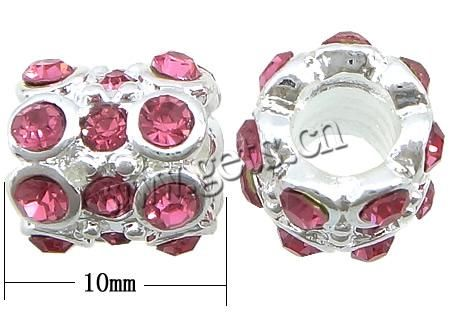 rhinestone European beads http://www.gets.cn/product/Brass-Beads-European--With-rhinestone--and-amp%3B-troll--Nickel--Lead--and-amp%3B-Cadmium-free--Drum--11x9mm_p407527.html
