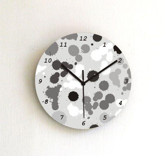 Black White Paint Spots Modern Wall Clock Ide Dekorasi Kamar Ide Dekorasi Dekorasi