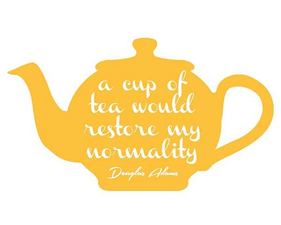 Tea poster, quote poster, kitchen decor, wall decor, art print ...