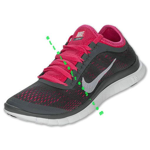 reputable site 203fa 407e1 Nike Free 3.0 V5 Womens Dark Grey White Pink Force 580392 016