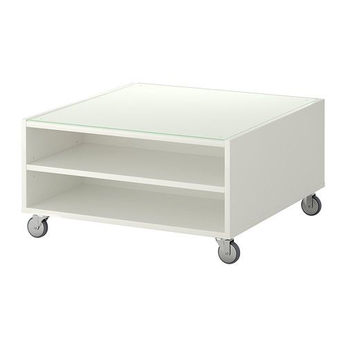 Tempered Glass Coffee Table With Drawers: BOKSEL Coffee Table IKEA Top Panel Of Tempered Glass