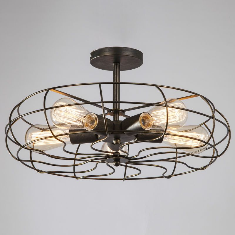 Vintage Retro Industrial Fan Ceiling Lights American Country