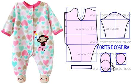 eb22ec915 Patrón enterito bebé Modelo De Roupa Infantil
