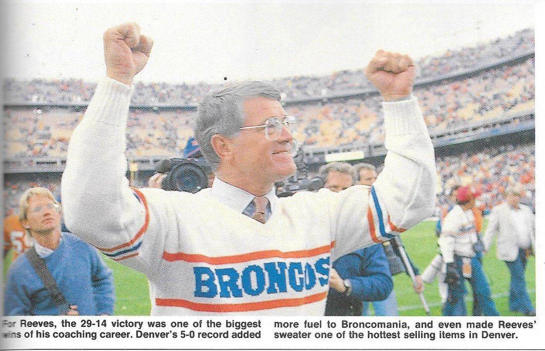 head coach dan reeves 1986 denver broncos dan reeves broncos pinterest