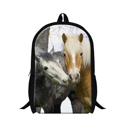 Cool Blue Horse 3D printing School Backpack for boys animal bookbags for  teenagers 7f5da56294628