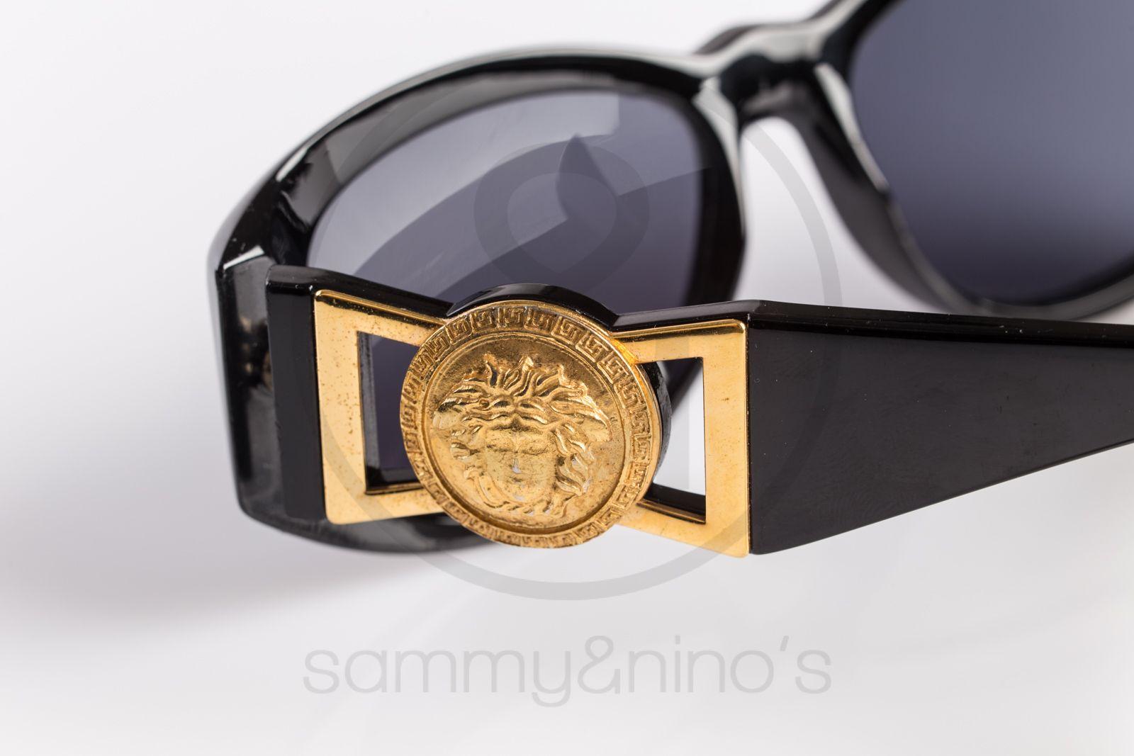 a09d588fa6f1 vintage Gianni Versace sunglasses 424 black gold sammyninos 4 ...