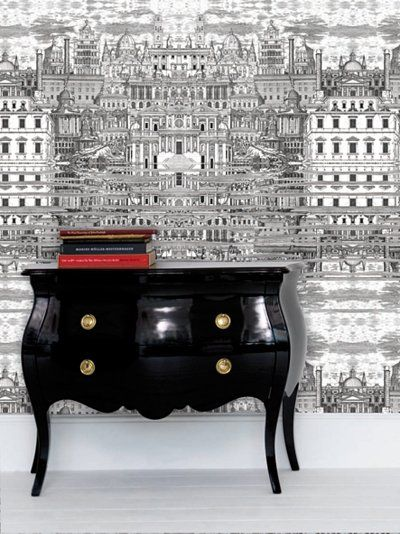 The Chest Is GORGEOUS And So Cole Son Fornasetti Riflesso Wallpaper