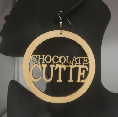 Chocolate Cutie Natural Hair Earrings | Afrocentric Jewelry & Accessories  Available at http://www.EthnicEarring.com