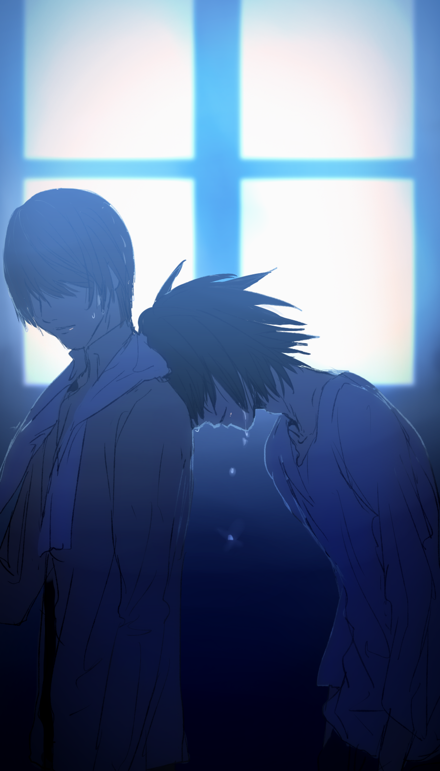 I Can T Think Of Any Good L S Storage Death Note Fanart Death Note Light Death Note Wallpaper Iphone