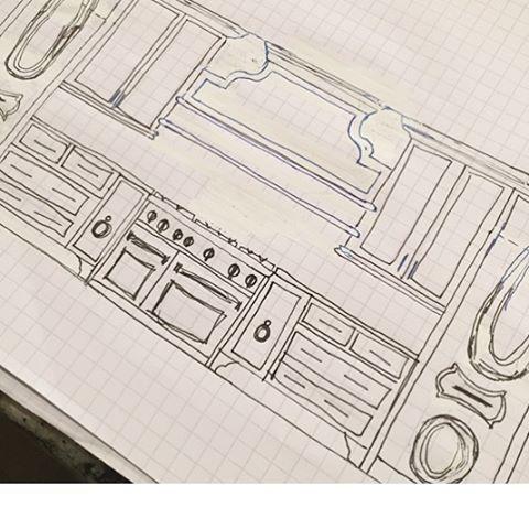 Coming to a mall near you.....#sneakpeek  @bellkbstudios #luxurylivingshow2016 #interiordesign #kitchendesign #sketch #atlanta #custom #customcabinets #luxury #kitchens #design