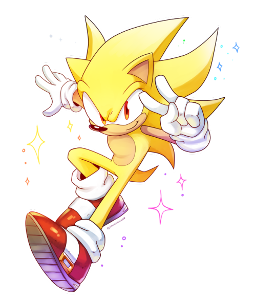 A Way Past Cool Pic Of Super Sonic By Drawloverlala Sonic Hedgehog Art Sonic Heroes