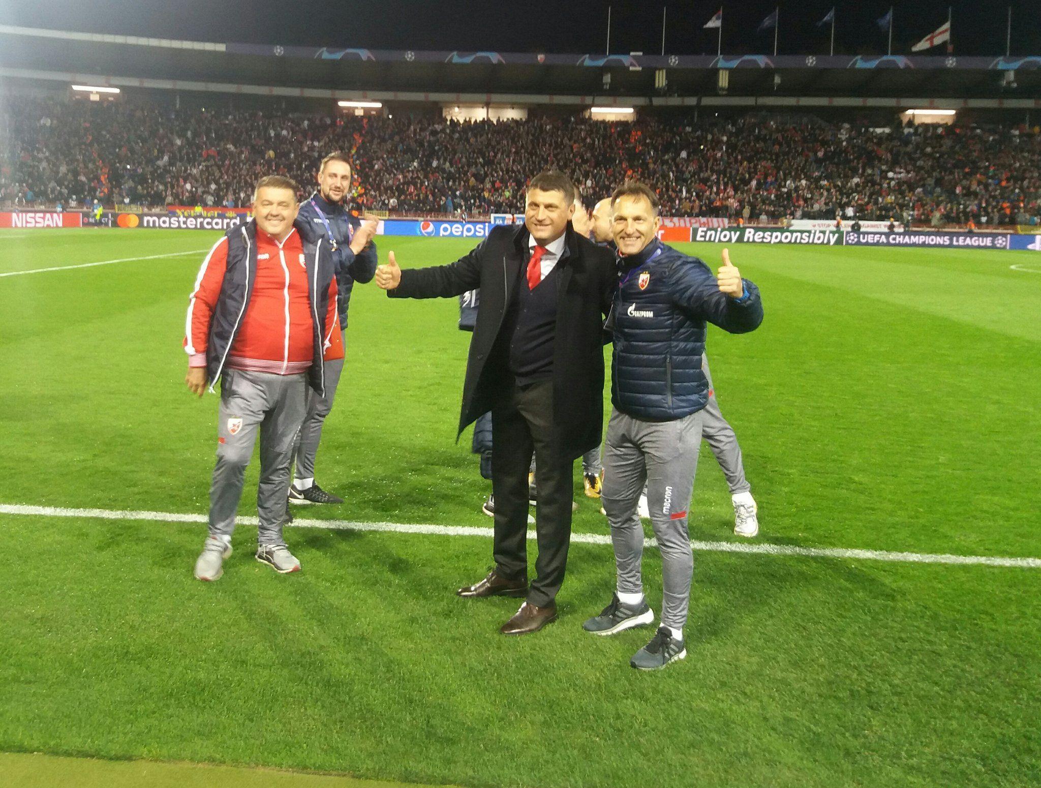 FK Crvena zvezda on Soccer field, Sports, Soccer