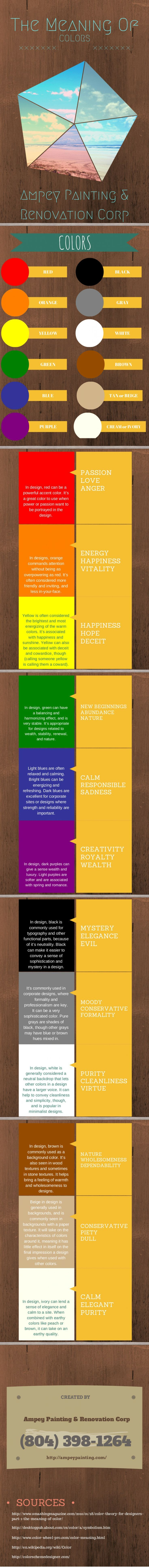 Psychology : The meaning of color...   Pinterest   Psychology and ...