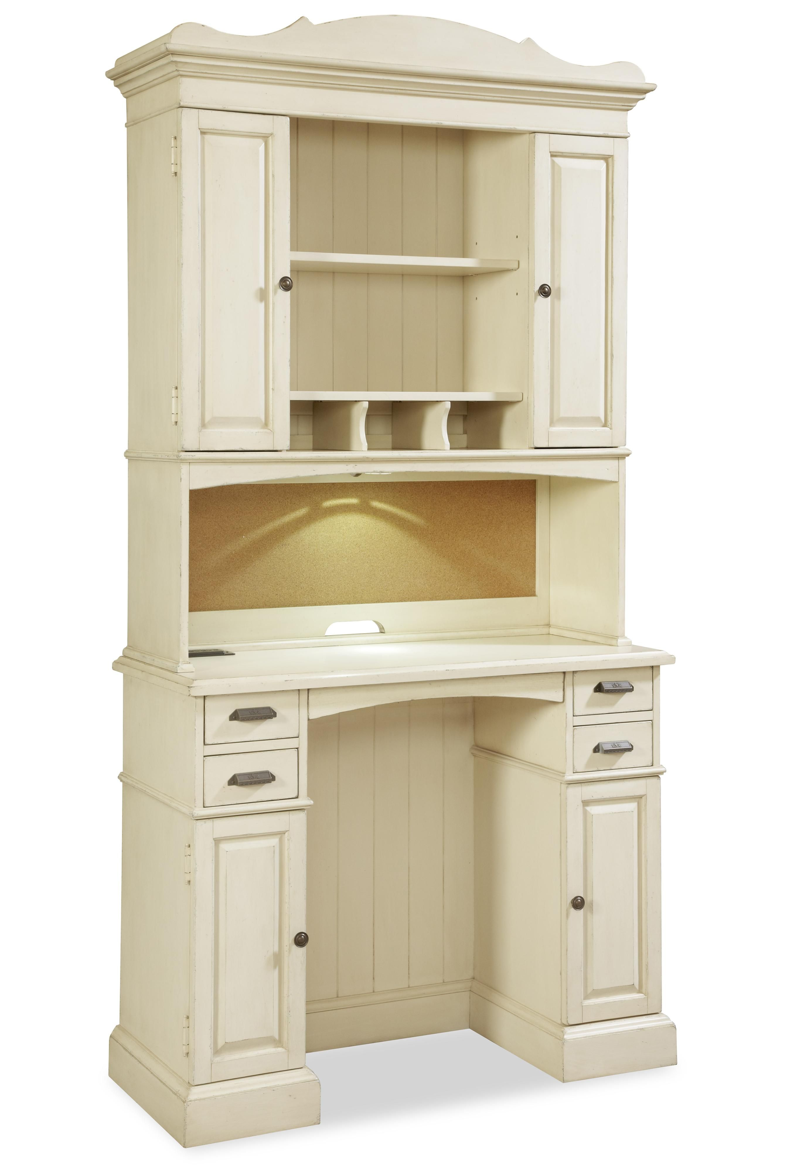 river house family organizer desk with hutch rooms of ivory desk rh pinterest com