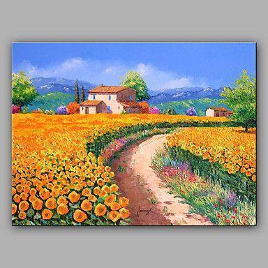 Handgemalte Landschaft Horizontal,Mediterran Ein Panel Leinwand  Hang Ölgemälde For Haus Dekoration