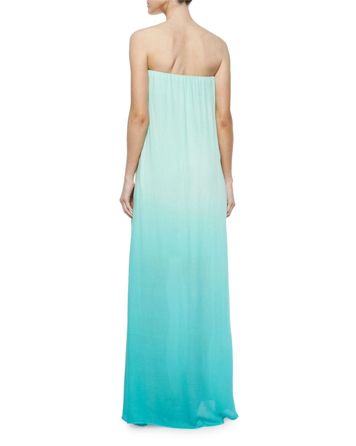 Karissa Strapless Ombre Maxi Dress, Turquoise | Products | Pinterest ...