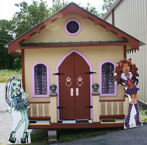 Monster High Doll Style Themed Kids Playhouse 6ft x 8ft Custom Made Playhouse | eBay
