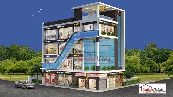 Commercial Building Elevation | Front 3d View | Design Ideas ...