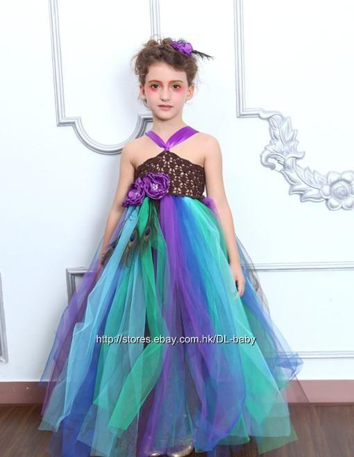 Peacock Baby Toddler Children Wedding Flower Girl Pageant Tutu Petti Dress 1 8Y | eBay