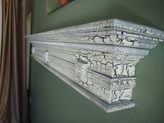 Fireplace mantel  Crackle Antique Look Wooden by WPBCustomWoodwork, $215.00
