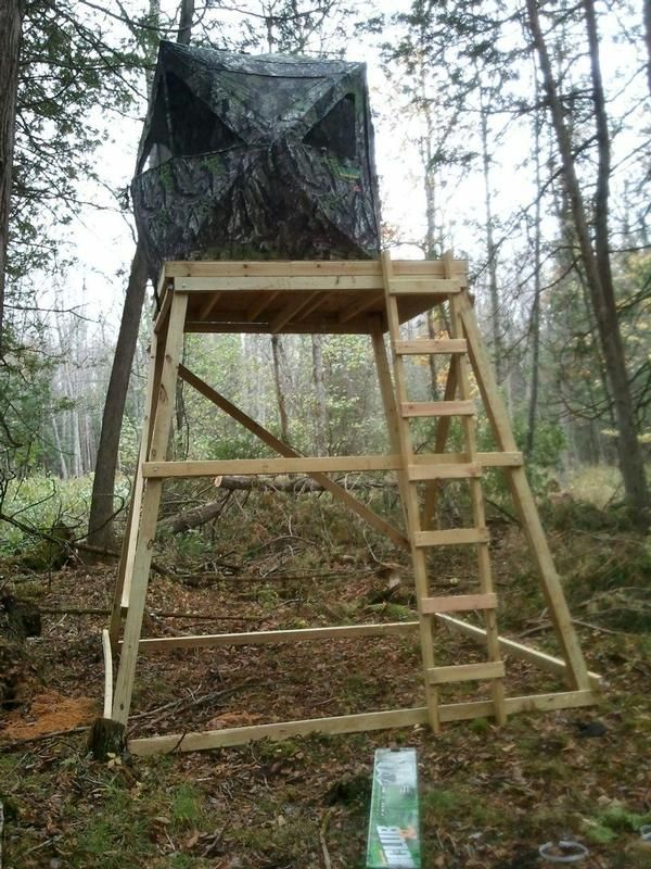 Image result for build an elevated hunting blind blinds for Deer hunting platforms