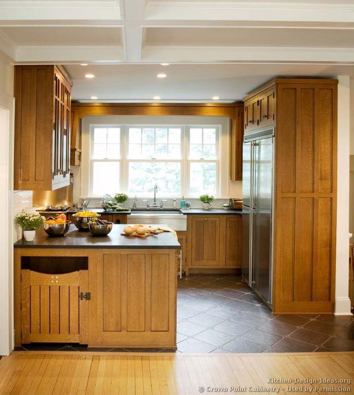 Craftsman Kitchen Oak Cabinets: #Kitchen Idea Of The Day: Craftsman Kitchens. (By Crown