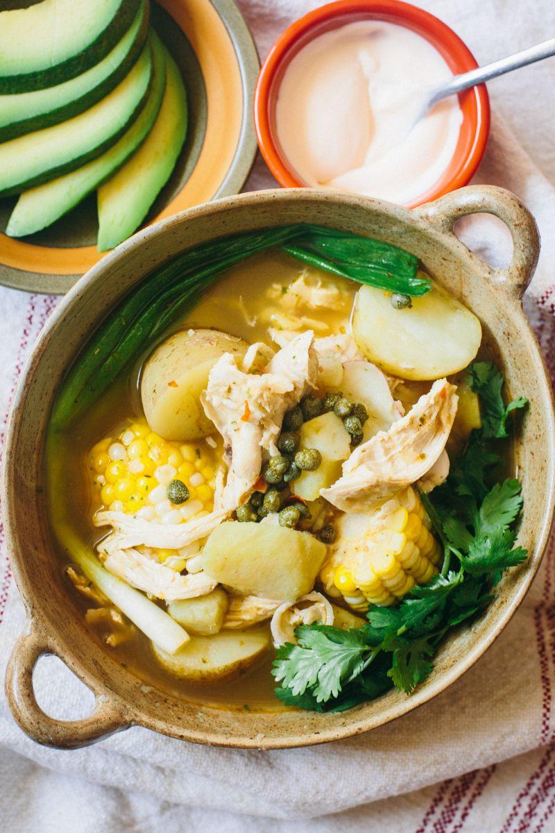 Ajiaco chicken corn and potato soup the domestic man