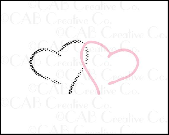 Pink Dotted Hearts Clip Art, Heart, Hearts, Dots, Layered