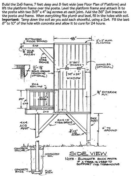 A frame treehouse again 8x8 is a better space also for 8x8 house plans