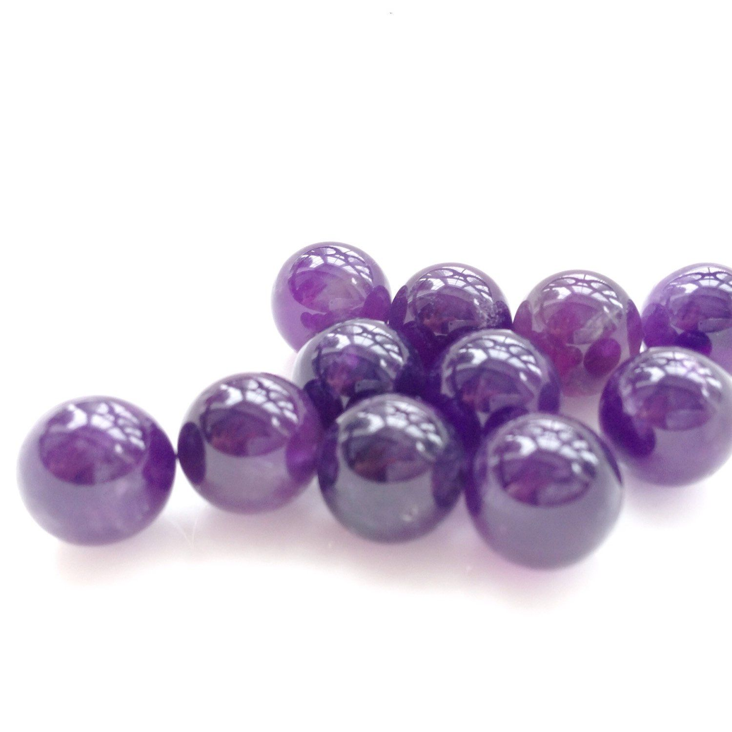 3 Amethyst 10mm Spheres Amethyst Crystal Balls Round Spheres Undrilled Amethyst No Hole Cage Jewelry Amethyst Crystal Crystals And Gemstones Chakra Beads