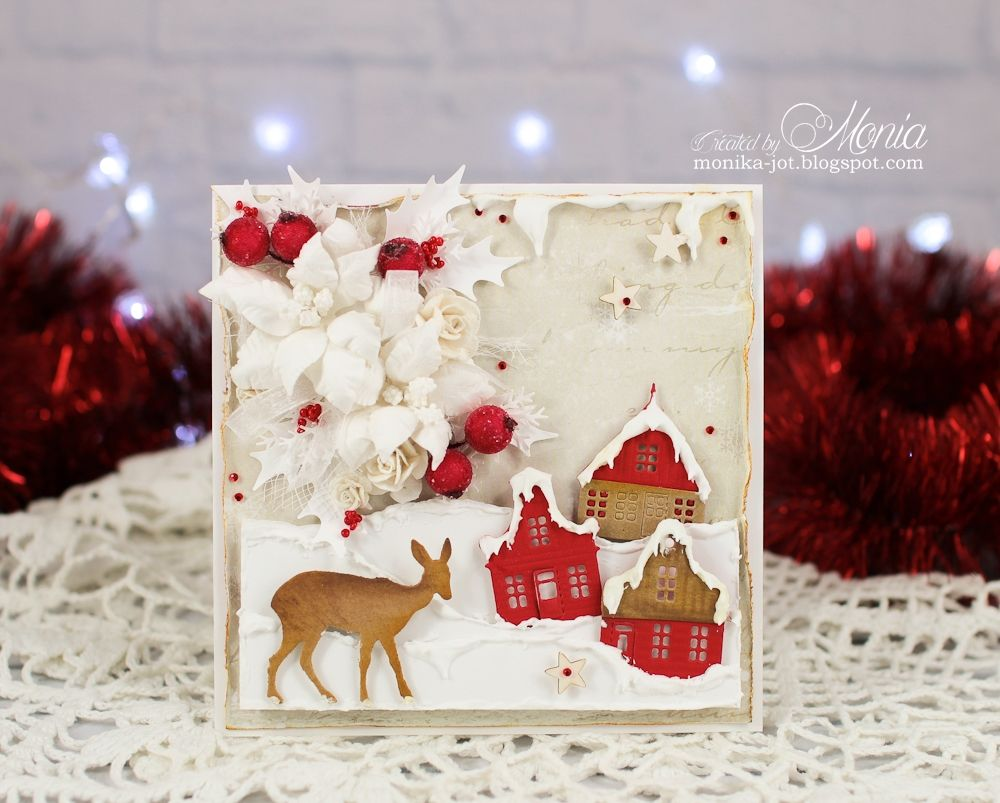 Christmas card with houses - Scrapbook.com