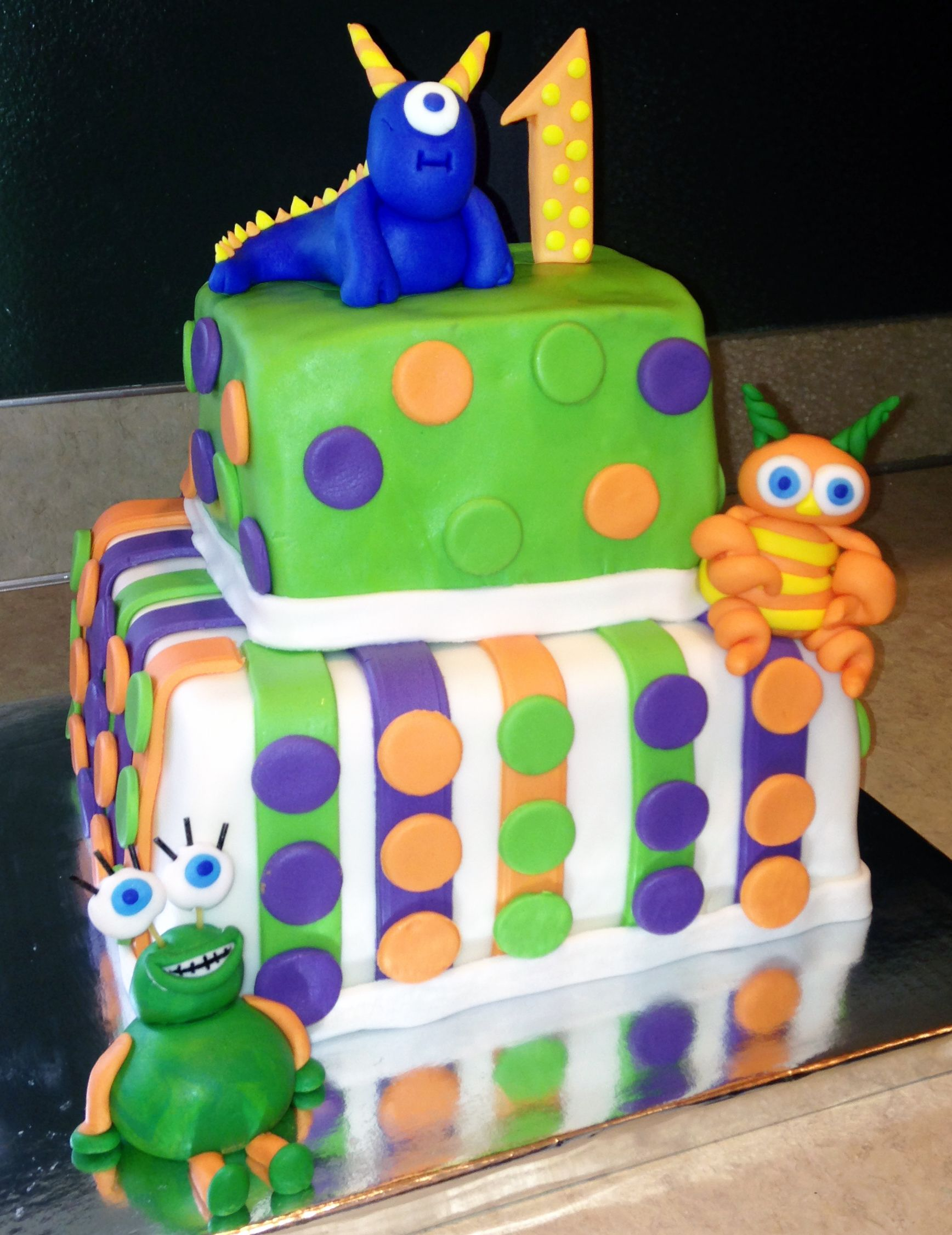 Monster First Birthday Cake Story Cakes Pinterest Birthday