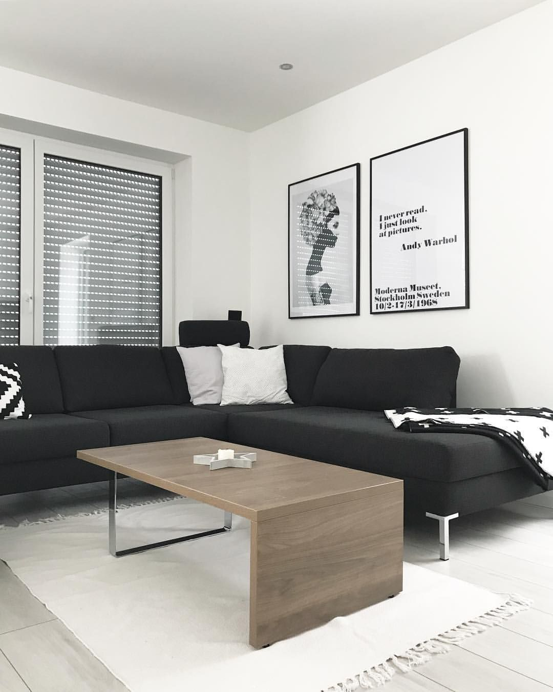 Wohnzimmer   Schwarzes Sofa Nordic, Andy Warhol, Wandbilder