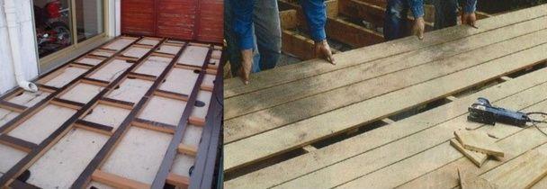 comment faire soi m me sa terrasse en bois jardin flooring et construction. Black Bedroom Furniture Sets. Home Design Ideas