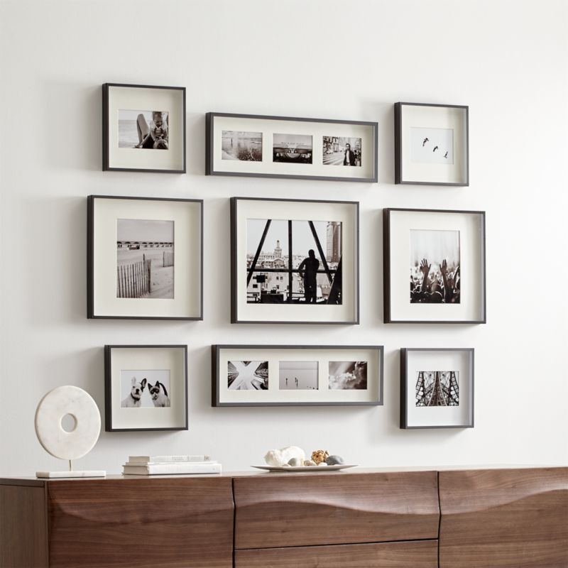 Brushed Gunmetal Picture Frame Gallery Set Of 9 We Ve Gathered Together Nine Frames In Four Diffe Sizes To Make It Easy Create A Stunning