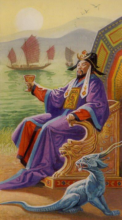 King of Cups - Dragons Tarot by Manfredi Toraldo, Severino Baraldi