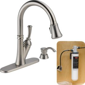 Delta Savile with Filtration Stainless 1 Handle Pull Down Kitchen