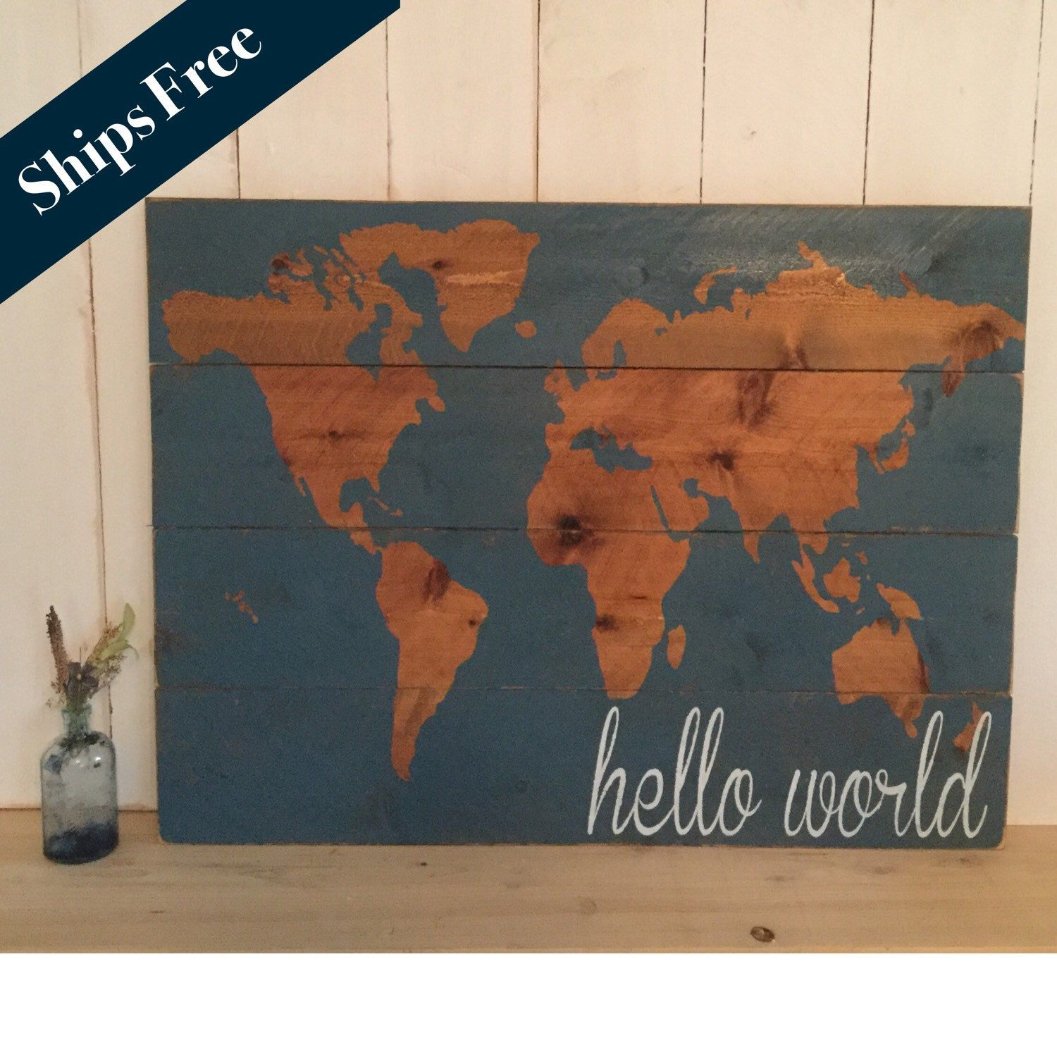 A personal favorite from my etsy shop httpsetsylisting hello world nursery decor map nursery wall art wooden map rustic world map wooden nursery map map wall hanging gift for baby gumiabroncs Images