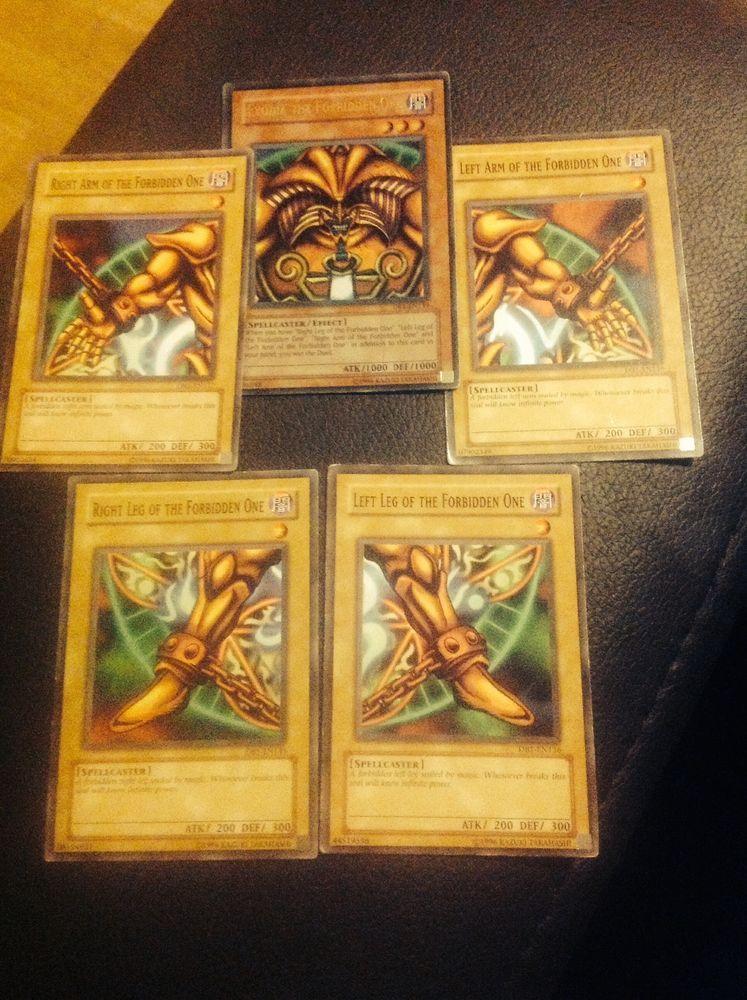 Full exodia set yugioh trading cards 1 part ultra rare