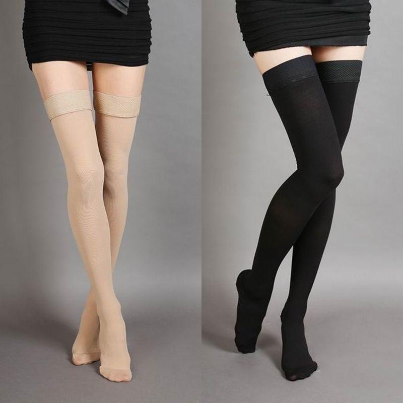 a16acf2776 $10.05 - Prevent Varicose Veins Stockings Thigh High Compression 25-30Mm  Closed Toe Socks #ebay #Fashion