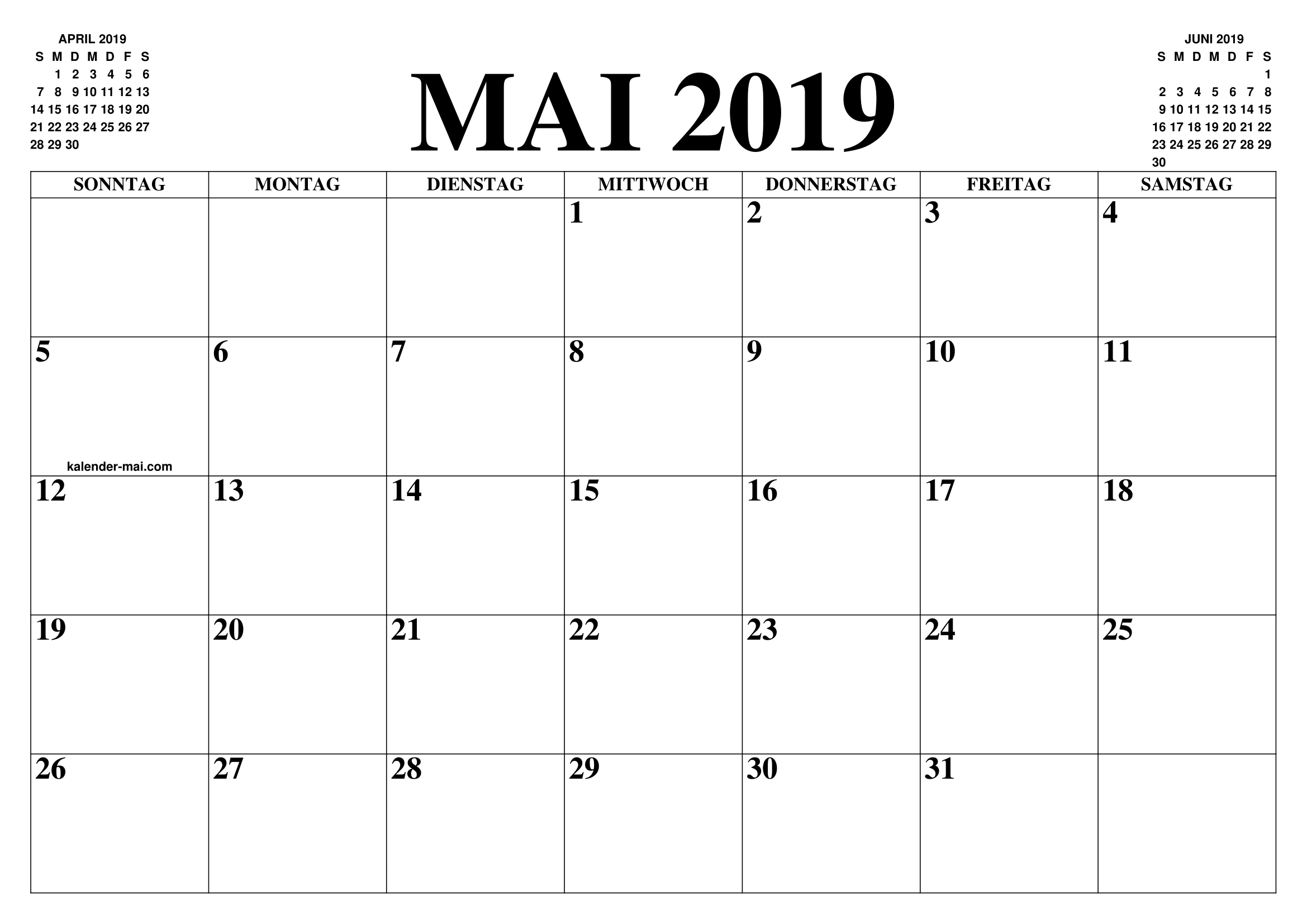 mai 2019 kalender 2019 calendar